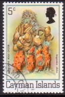 Cayman Islands 1982 SG #516B 5c VF used Flora and Fauna imprint 1982