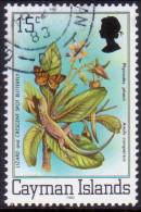 Cayman Islands 1982 SG #518B 15c VF used Flora and Fauna imprint 1982