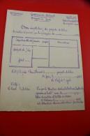MILITARIA Document Modéle Vierge Type Dactylographié Gendarmerie Nationale Rossignol 1927 Bon Recap Paquets De Tabac - Dokumente