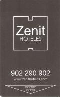 TARJETA DE HOTEL ZENIT (KEY CARD-LLAVE) CAFFE MOCAY - LECHE PASCUAL - Cartas De Hotels