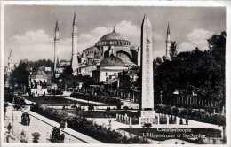 CONSTANTINOPEL - L'Hippodrome Et Ste.Sophie, Seltene 3 Fach Frankierung, Karte Gel.1929 Nach Fribourg Schweiz - Türkei
