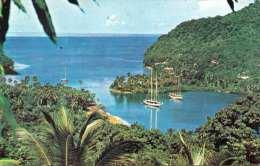 ST. LUCIA - Caribbean-Margot Bay, Karte Gel.1966 (Kleinformat) - St. Lucia