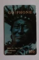INDIEN - RAIN IN THE FACE HUNKPAPA SIOUX - Carte t�l�phone pr�pay�e ACMI / Prepaid phonecard GO PHONE