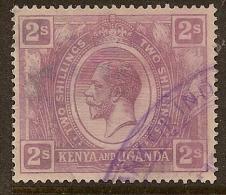 KENYA 1922 2/- KGV SG 88 U #MS311 - Kenya, Uganda & Tanganyika