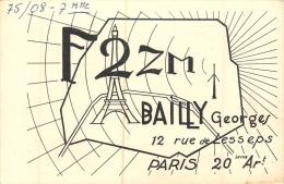 PARIS 20em  BAILLY GEORGES 12 RUE DE LESSEPS  F2ZM  LIRE LES 2 SCANS - Arrondissement: 20