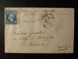 CACHET SUR TIMBRE NAPOLEON MARQUE MANUSCRIT BONNE POUR BREZOLLES 1860 - Postmark Collection (Covers)
