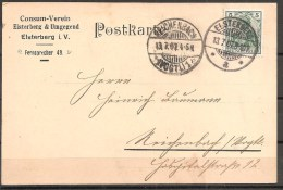 Deutsches Reich - Ganzsache - Elsterberg 1907 - Deutschland