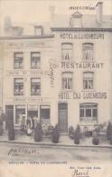Bouillon Hotel Du Luxembourg  Animée Bière De Diekirch Prop.Ernest Fortier Circulée En 1907 - Bouillon