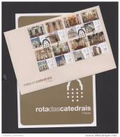 BROCHUR & FDC 2103 PORTUGAL CATHEDRALS CATHÉDRALES MADEIRA FUNCHAL AZORES ANGRA PORTALEGRE COIMBRA AÇORES CASTELO BRANCO - Portugal