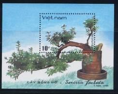 Vietnam Viet Nam MNH Perf Souvenir Sheet 1986 : Bonsai / Tree (Ms507B) - Vietnam