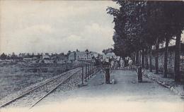 Marche La Station Du Tram Animée Circulée En 1910 - Marche-en-Famenne