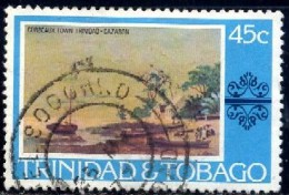 Painting, Corbeaux Town, By Cazabon, Trinidad & Tobago Stamp SC#266 Used - Trinité & Tobago (1962-...)