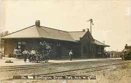240111-Nebraska, York, RPPC, Burlington & Missouri River Railroad Station, Depot - Gares - Sans Trains