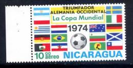 Nicaragua 1974 MINT Stamp Football Soccer Overprinted Germany Winner On World Cup Germany - Nicaragua