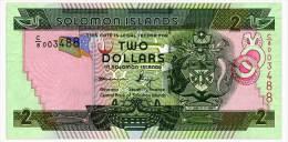 SOLOMON ISLANDS 2 DOLLARS ND(2011) Series C/8, Sign. 10 Pick 25 Unc - Solomon Islands