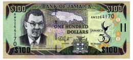 JAMAICA 100 DOLLARS 2012 COMMEMORATIVE Pick 90 Unc - Jamaica