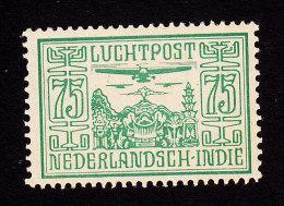 Netherlands Indies, Scott #C9, Mint Hinged, Planes Over Temple, Issued 1928 - Indes Néerlandaises