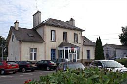Gare De Questembert , Morbihan , Mise En Service En 1862  -  Une Photo Reproduit Carte Postale  10x15 Cm. - Stations Without Trains