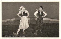 "PAREJA COUPLE GRUB AUS DIETRICH'S WUNDERSTADT ""LILLIPUT"" EDIT. MARTIN FRAKFURT VOYAGÉE 1938 RARISSIME CLOGS GECKO. - Koppels"