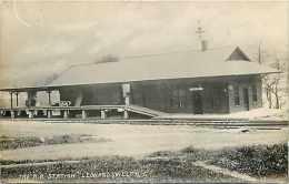 240165-New York, Leonardsville, RPPC, Unadilla Valley Railroad Station, Depot, Photo - Stazioni Senza Treni