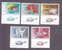 Israel, Scott #C42-C46, Mint Never Hinged, Israeli Exports, Issued 1968 - Luchtpost