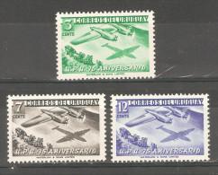 Uruguay 1952,75th UPU Anniv (1949),Sc 598-600,VF MNH** - U.P.U.
