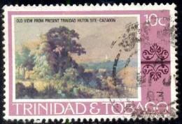 Painting, View, By Jean Michael, Cazabon, Trinidad & Tobago Stamp SC#263 Used - Trinité & Tobago (1962-...)
