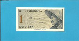 INDONESIA - 1 SEN - 1964 - P 90 - UNC. - Série XBV - Replacement - Peasant With Straw Hat - 2 Scans - Indonésie