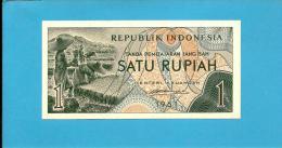 INDONESIA - 1 Rupiah - 1961 - P 78 - UNC. - Série CWN - Rice Field Workers  - 2 Scans - Indonésie