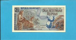 INDONESIA - 2 1/2 Rupiah - 1961 - P 79 - UNC. - Série AWA - 2 Scans - Indonésie
