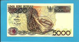 INDONESIA - 5000 Rupiah - 1992 / 1997 - P 130.f - UNC. - Série JHJ - 2 Scans - Indonésie