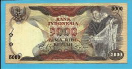INDONESIA - 5000 Rupiah - 1975 - P 114 - Série QDM - 2 Scans - Indonesia
