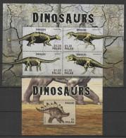 Palau (2014)  - MS + Block - (II)  /  Dinosaurios - Dinosaures - Dinosaurus - Dinosaurs - Prehistoric Fauna - Prehistorisch