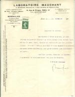 Rare courrier du laboratoire Mauchant avec 188A  Sign� Calves Peut �tre pi�ce unique