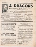 4e DRAGONS BULLETIN TRIMESTRIEL DE L'AMICALE DES ANCIENS COMBATTANTS DU 4Ee REGIMENT 1935 ( 8 Pages ) - Documents