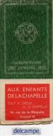 R.A.T.P  -  CINQUANTENAIRE Du METRO . 1900-1950 - PLAN De METRO -  Publicité  AUX  ENFANTS DE LA  CHAPELLE. - Sonstige