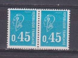 FRANCE / 1971 / Y&T N° 1663 ** (2 TPO En Paire) : Béquet 45c Bleu - Gomme D´origine Intacte - Neufs
