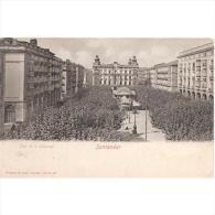CTBATP4908-LFTC457.Tarjeta Postal De CANTABRIA.Edificios,soportales,PLAZA ARBOLADA En SANTANDER - Cantabria (Santander)