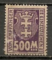 Timbres - Allemagne - Etranger - Dantzig - Taxe - 1923 - 500 -