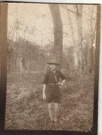PHOTO  COLLE SUR CARTON D'ORIGINE ENFANT THEME SCOUTISME - Photographs