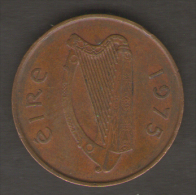 IRLANDA 2 PENNY 1975 - Irlanda