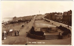 The Downs, Herne Bay (Kings Hall Theatre) - Real Photo - Romney Series Unused - England