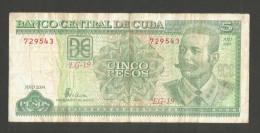 CUBA - BANCO NATIONAL De CUBA - 5 PESOS (2004) - Antonio Maceo - Cuba