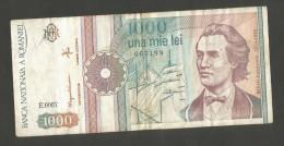 ROMANIA - BANCA NATIONALA A ROMANIEI - 1000 LEI (1991) - M. EMINESCU - Romania