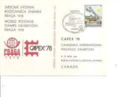 Expositions Philatéliques -Capex 78 ( Carte Postale Commémorative De Tchécoslovaquie à Voir) - Philatelic Exhibitions