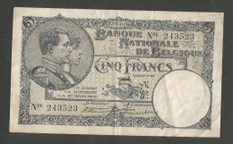 BELGIE / BELGIQUE - BANQUE NATIONALE De BELGIQUE - 5 FRANCS (13 / 03 / 1926)  - ALBERT I - [ 2] 1831-... : Belgian Kingdom