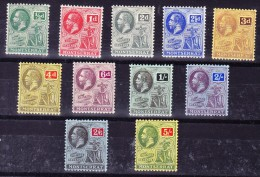 Montserrat 1916/23 SG.#49-59 * Kompl. Serie - Montserrat