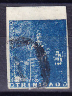 Trinidad 1856 SG.#16 Gestempelt - Attest - Trinidad & Tobago (...-1961)