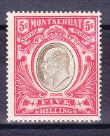 Montserrat 1907 SG.#33 * WZ CA - Montserrat