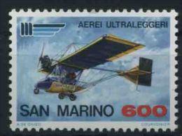 1987 San Marino, Aerei Ultraleggeri , Serie Completa Nuova (**) AL FACCIALE - Neufs